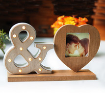 IAMPRETTY Wood Heart Sharp Photoes Frame Picture Frame - $30.95
