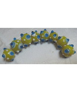 8 glass lampworked beads - $2.99