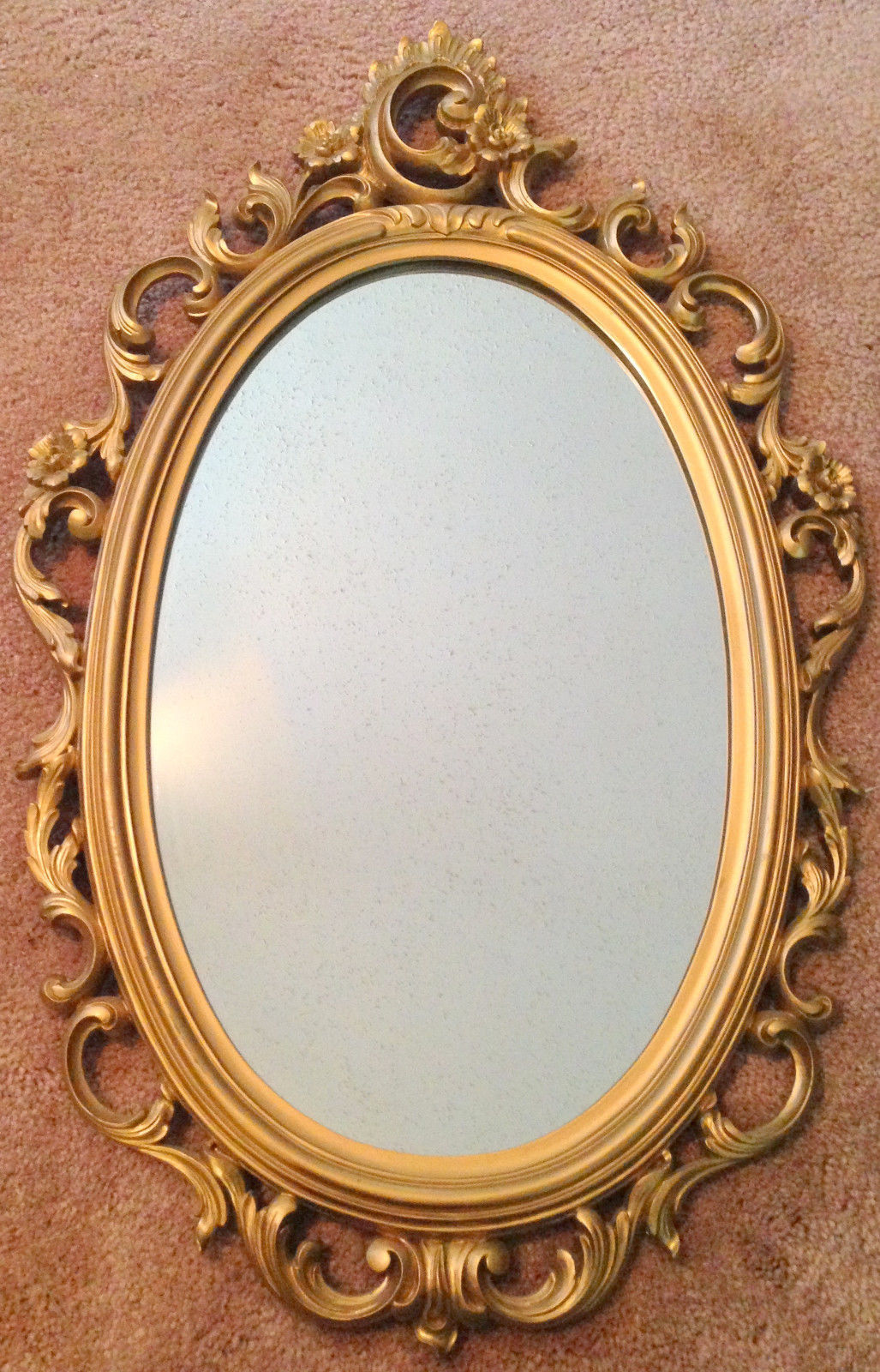 Vtg 1969 Syroco 2314 Oval Wall Mirror Gold and 50 similar items