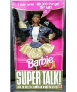 Vintage 1994 African American SUPER TALK BARBIE ~Says over 100,000 things - $98.01