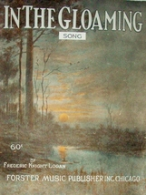 1919 In The Gloaming  Piano Song Wall Art Large Format Antique Sheet Music - $7.95