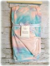 Modern Baby Reversible Security Blanket Tie Dye Pink Minky 2ply SZ 30x40... - $28.50
