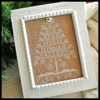 Primary image for Peace Tree Aphabet monochromatic cross stitch kit Little House Needleworks