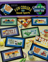Cross stitch / Fun Coolers For Good Sports patterns and project book - $8.95