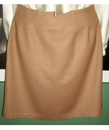 CLASSIC J.G. HOOK Fully Lined Camel Wool Pencil SKIRT - $17.99