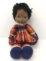 Vintage Lapsitter 70's Fisher Price Black African American Baby Doll 205 - $22.23