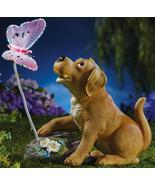 Puppy and Lighted Butterfly Garden Statue - $21.50
