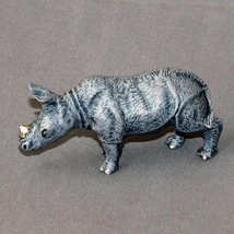 "Adoreable DETAILED Bronze RHINOCEROS ""Rhinoceros Baby #2"" Rhino Figurine... - $320.00"