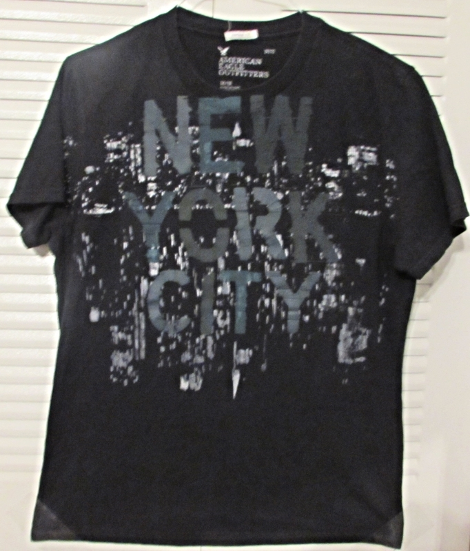 "American Eagle Outfitters Graphic T-Shirt ""New York City Lights"" Size: M/M - Vtg"