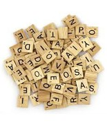 100 Assorted WOOD SCRABBLE LETTERS abcdefghijkl... - $9.99