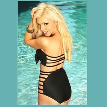 Big Bow Bandeau and High Waist 2Pc Bikini in Three Popular Pin Up Styles image 3