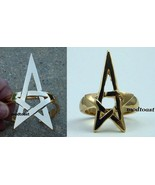 Pentagram Bracelet & Ring Set Star Jewelry Gold Armor Cuff Avant Garde - $25.99