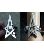 Pentagram Bracelet & Ring Set Star Jewelry Silv... - $25.99