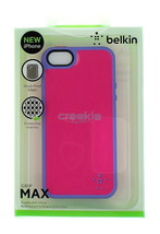 Belkin Grip Max Case & Air Shock Pockets for Apple iPhone 5 Bubblegum Pi... - $17.95