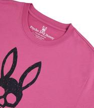 Men's Psycho Bunny Short Sleeve Jasper Graphic Tee Logo Print Magenta T-Shirt image 2