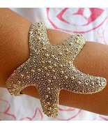 Starfish Bracelet Antique Gold Cuff Jewelry Adjustable Star Wrap  - $23.99