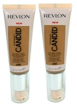 Lot of 2, Revlon PhotoReady Candid Anti-Pollution Foundation 430 Honey B... - $8.98