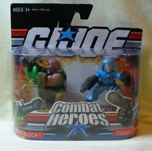 GI JOE Combat Heroes Roadblock & Cobra Commander - $14.95