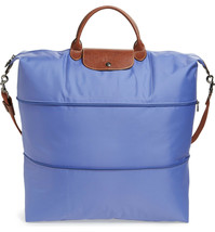 NWT Longchamp Le Pliage Expandable Travel Weekender Bag 1911089 LAVENDER... - $218.00
