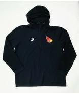 Asics ISU Redbirds Thermopolis Fleece 1/4 Zip Hoody Men's L Black A161A106 - $44.55