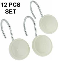 "Carnation""color round"" Ceramic Resin Shower Curtain Hook,Ivory,12 Pcs,PH... - $20.78"