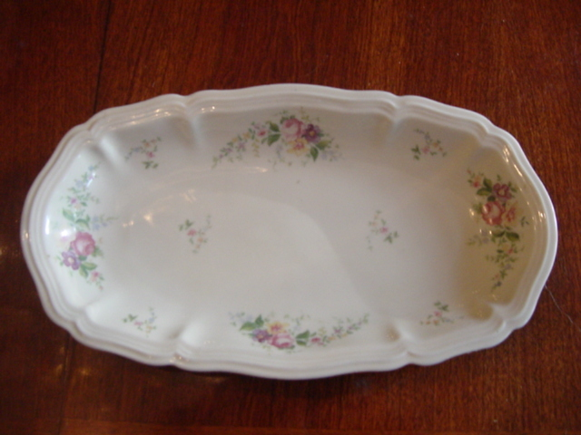Johann Haviland Celery Dish and Forever Spring Saucers