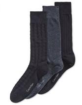 Calvin Klein Textured Dress Socks 3-Pack, Shoe Size 7-12, MSRP $22 - $12.19