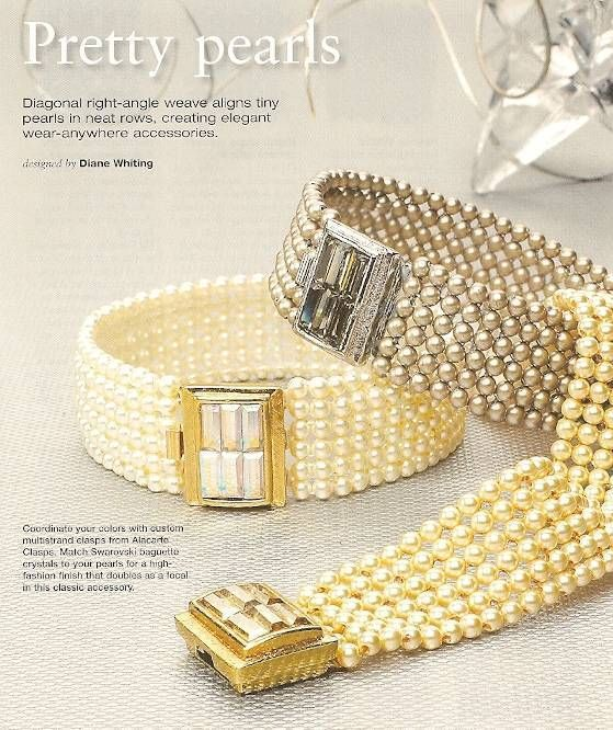 Primary image for Y209 Bead PATTERN ONLY Beaded Pretty Pearls Bracelet Pattern