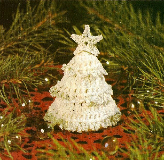 Primary image for W485 Crochet PATTERN ONLY Tiny Christmas Tree Ornament Pattern Miniature