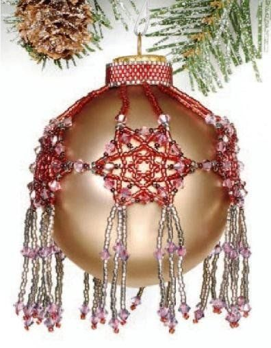 Primary image for X069 Bead PATTERN ONLY Beaded Bedecked Boughs Christmas Ornament Cover Pattern