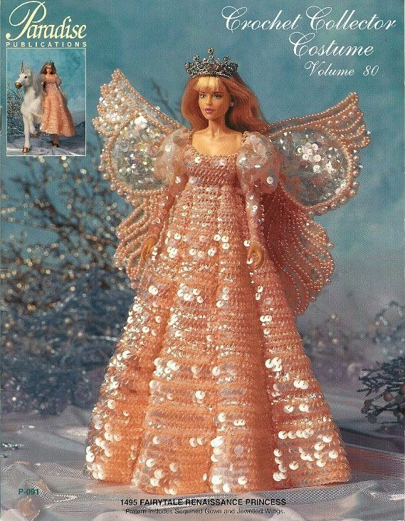 Primary image for W385 Crochet PATTERN Book ONLY 1495 Fairytale Renaissance Princess Fashion Doll