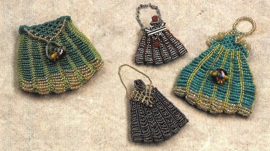 Primary image for X074 Bead PATTERN ONLY Beaded Faux Knitting Purse Victorian Pattern