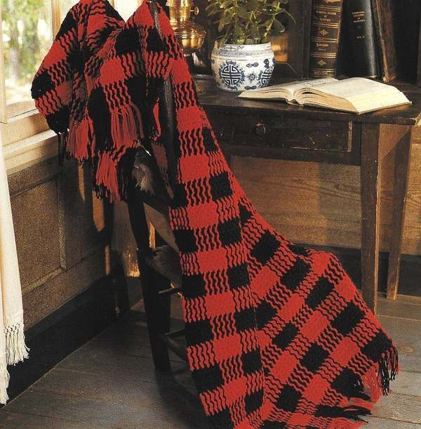 Primary image for X122 Crochet PATTERN ONLY Buffalo Checks & Star-Stitched Stripes Afghan Patterns