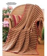 W302 Crochet PATTERN ONLY Garden Plaid and Speckled Plaid Afghan Patterns - $7.50