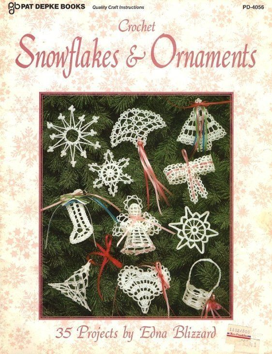 X614 Crochet PATTERN ONLY Snowflakes & Ornaments 35 Projects Christmas Angel - $17.50