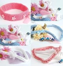 W363 Crochet PATTERN ONLY Set of 5 Little Lady Baby Headbands Pattern - $7.50