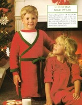 X451 Crochet PATTERN ONLY Child Bathrobe & Nightgown Yoke Pattern - $7.50