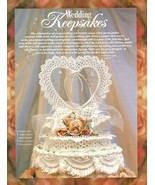 W479 Crochet PATTERN ONLY Heart Wedding Cake Topper Keepsake Pattern - $12.50