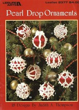 X824 Crochet PATTERN Book ONLY Pearl Drop Ornament Cover Christmas Frilly Lacy - $14.50