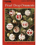 X824 Crochet PATTERN Book ONLY Pearl Drop Ornament Cover Christmas Frill... - $13.95