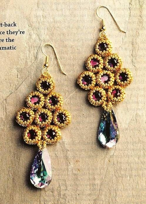 Primary image for X342 Bead PATTERN ONLY Beaded Bezels Tree Shaped Earrings Pattern
