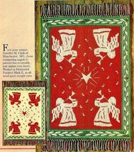 W480 Knit PATTERN ONLY Trumpeting Angels Reversible Afghan Pattern Christmas - $11.50