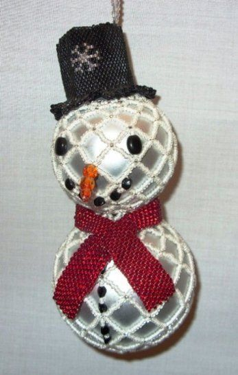 Primary image for X323 Bead PATTERN ONLY Beaded Frosty Snowman Christmas Ornament Cover Pattern