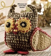 X802 Crochet PATTERN ONLY Little Hootie Owl Toy Pattern - $7.50