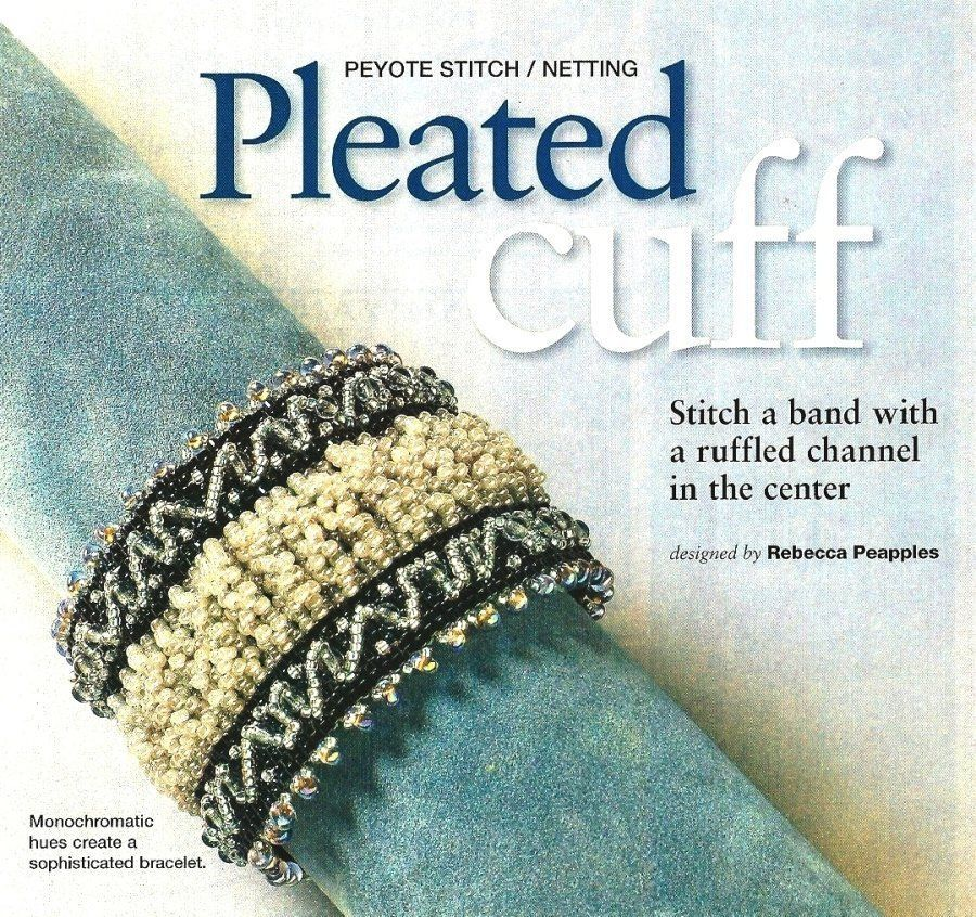 Primary image for X563 Bead PATTERN ONLY Beaded Pleated Cuff Bracelet Pattern