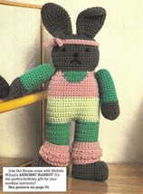 X480 Crochet PATTERN ONLY Aerobic Rabbit Doll Toy Pattern - $7.50