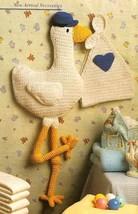X700 Crochet Pattern Only Baby Room Stork Wall Art Pattern - $7.50