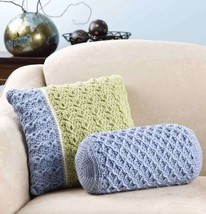 Y873 Crochet PATTERN ONLY 2 Multiple Stitch and Color Pillow Patterns - $7.50