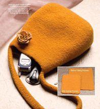 W270 Crochet PATTERN ONLY Golden Fleece Felted Handbag Purse Pattern - $7.45