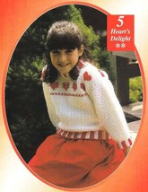 Y042 Crochet PATTERN ONLY Heart's Delight Child's Sweater & Evening Bag - $7.50
